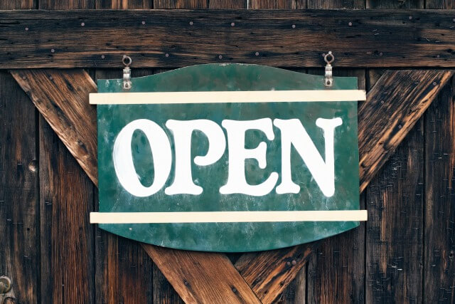 Open sign for small business